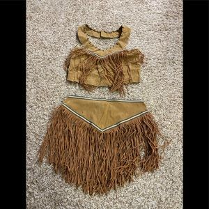 Halloween costume could be indian or moana